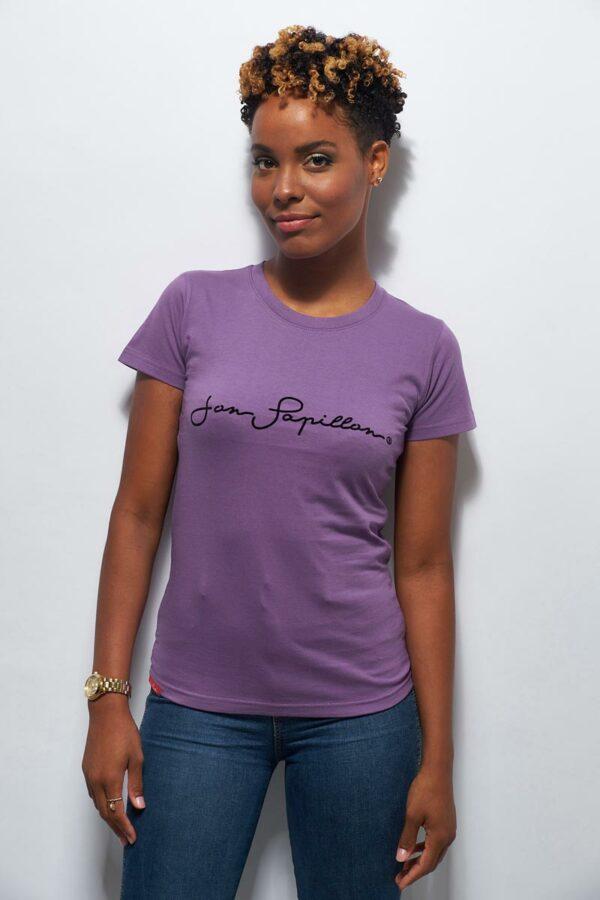 T-shirt violet en coton femme
