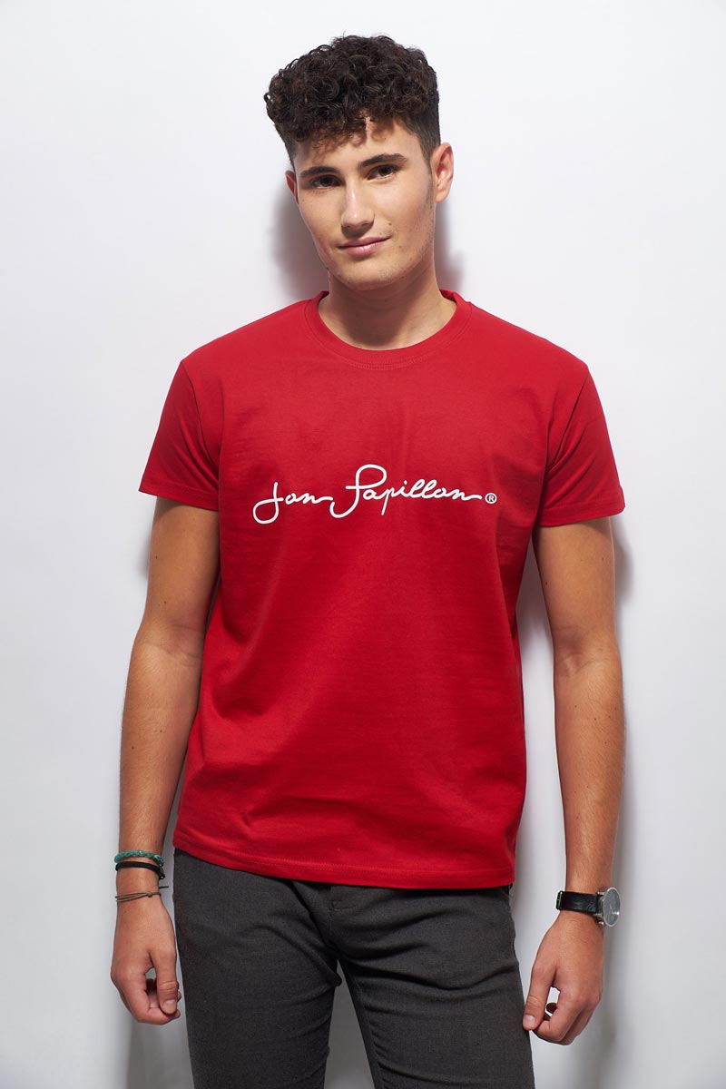 Tee Homme Papillon Rouge Shirt Jon Pour Coton In En France Made rwXrxCq