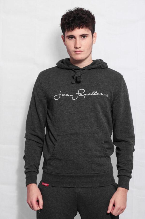 sweat streetwear à capuche à vendre gris anthracite